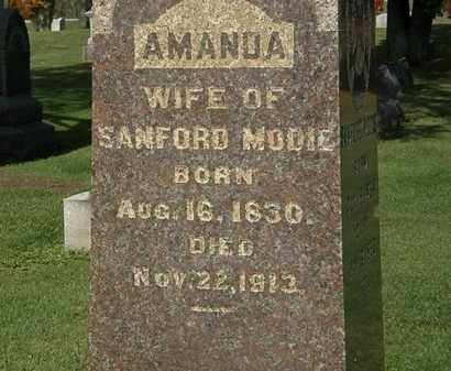 MODIE, AMANDA - Morrow County, Ohio | AMANDA MODIE - Ohio Gravestone Photos