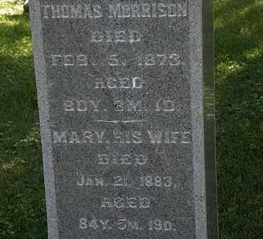 MORRISON, THOMAS - Morrow County, Ohio | THOMAS MORRISON - Ohio Gravestone Photos