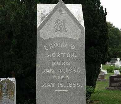 MORTON, EDWIN D. - Morrow County, Ohio | EDWIN D. MORTON - Ohio Gravestone Photos