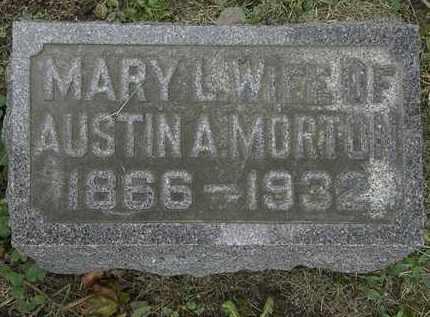 MORTON, MARY L. - Morrow County, Ohio | MARY L. MORTON - Ohio Gravestone Photos