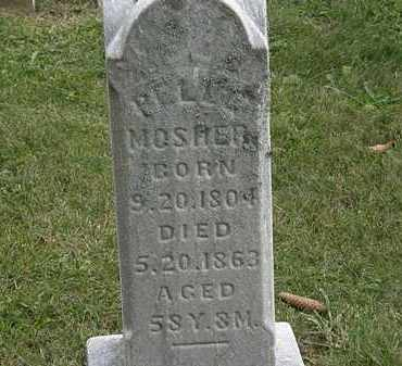 MOSHER, ? - Morrow County, Ohio | ? MOSHER - Ohio Gravestone Photos