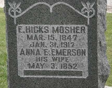 MOSHER, ANNA E. - Morrow County, Ohio | ANNA E. MOSHER - Ohio Gravestone Photos