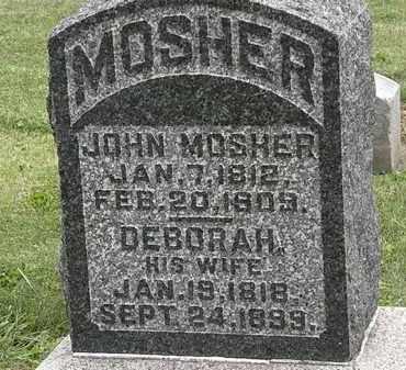 MOSHER, DEBORAH - Morrow County, Ohio | DEBORAH MOSHER - Ohio Gravestone Photos