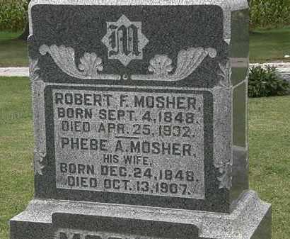 MOSHER, PHEBE A. - Morrow County, Ohio | PHEBE A. MOSHER - Ohio Gravestone Photos