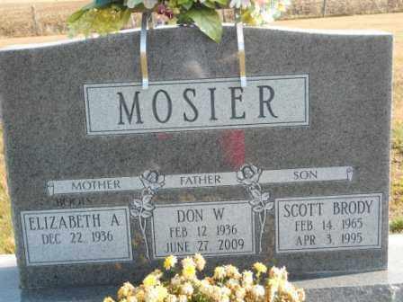 MOSIER, DON W - Morrow County, Ohio | DON W MOSIER - Ohio Gravestone Photos