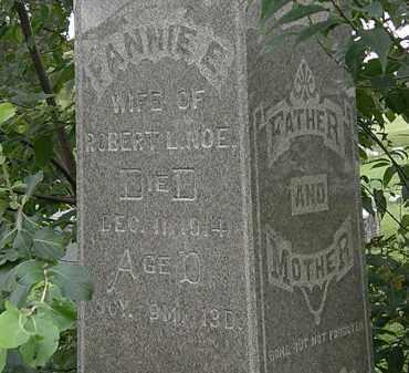 NOE, FANNIE E. - Morrow County, Ohio | FANNIE E. NOE - Ohio Gravestone Photos