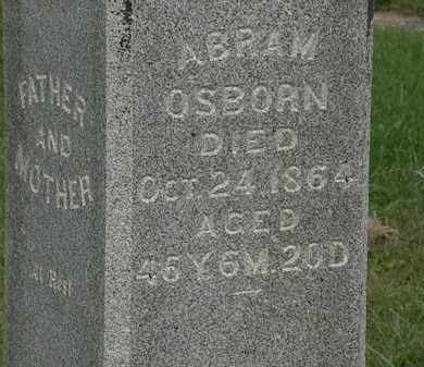 OSBORN, ABRAM - Morrow County, Ohio | ABRAM OSBORN - Ohio Gravestone Photos