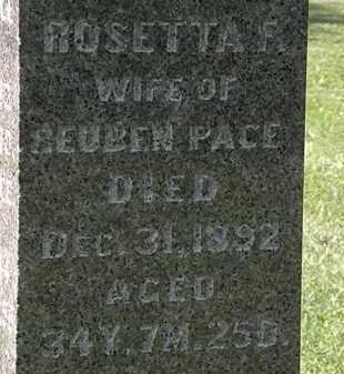 PACE, ROSETTA F. - Morrow County, Ohio   ROSETTA F. PACE - Ohio Gravestone Photos