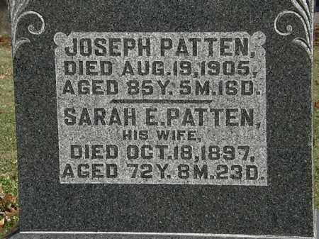 PATTEN, SARAH E. - Morrow County, Ohio   SARAH E. PATTEN - Ohio Gravestone Photos