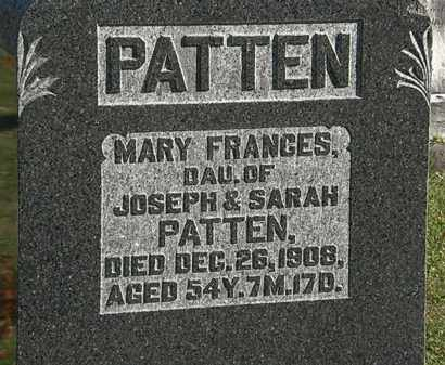 PATTEN, MARY FRANCIS - Morrow County, Ohio | MARY FRANCIS PATTEN - Ohio Gravestone Photos