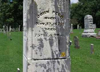 PECK, JOHN - Morrow County, Ohio | JOHN PECK - Ohio Gravestone Photos