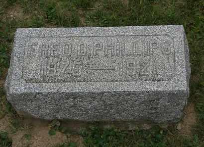 PHILLIPS, FRED D. - Morrow County, Ohio | FRED D. PHILLIPS - Ohio Gravestone Photos
