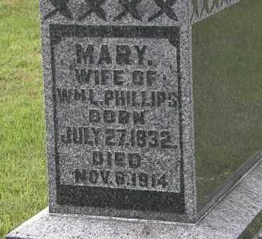 PHILLIPS, MARY - Morrow County, Ohio   MARY PHILLIPS - Ohio Gravestone Photos