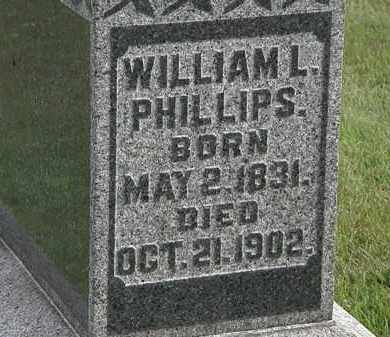 PHILLIPS, WILLIAM L. - Morrow County, Ohio | WILLIAM L. PHILLIPS - Ohio Gravestone Photos