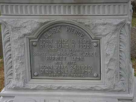 LYON PIERCE, HARRIET - Morrow County, Ohio   HARRIET LYON PIERCE - Ohio Gravestone Photos