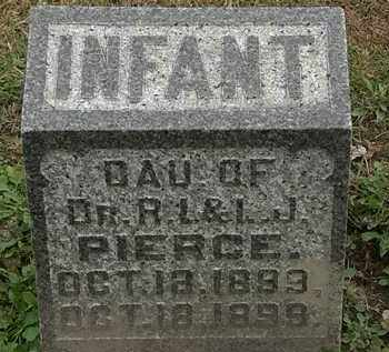 PIERCE, INFANT - Morrow County, Ohio | INFANT PIERCE - Ohio Gravestone Photos