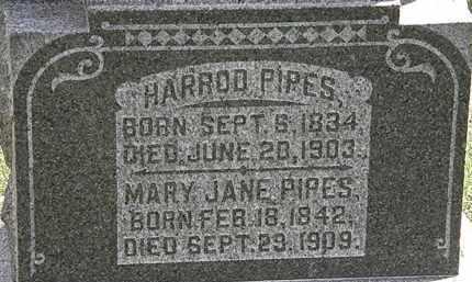 PIPES, HARROD - Morrow County, Ohio | HARROD PIPES - Ohio Gravestone Photos