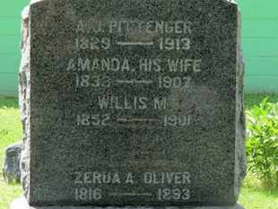 PITTINGER, AMANDA - Morrow County, Ohio | AMANDA PITTINGER - Ohio Gravestone Photos