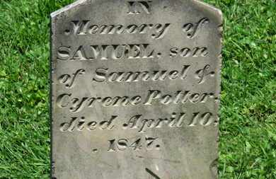 POTTER, CYRENE - Morrow County, Ohio | CYRENE POTTER - Ohio Gravestone Photos