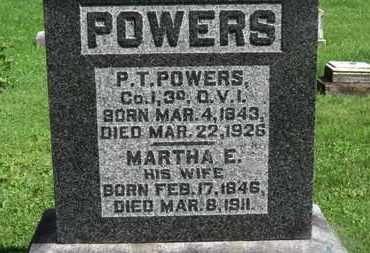 POWERS, MARTHA E. - Morrow County, Ohio | MARTHA E. POWERS - Ohio Gravestone Photos