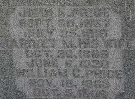 PRICE, HARRIET M. - Morrow County, Ohio | HARRIET M. PRICE - Ohio Gravestone Photos