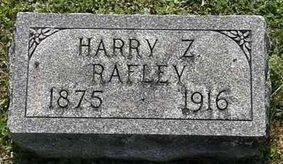 RAFLEY, HARRY Z. - Morrow County, Ohio   HARRY Z. RAFLEY - Ohio Gravestone Photos