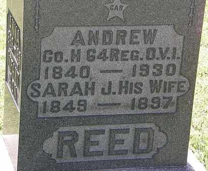 REED, SARAH J. - Morrow County, Ohio | SARAH J. REED - Ohio Gravestone Photos