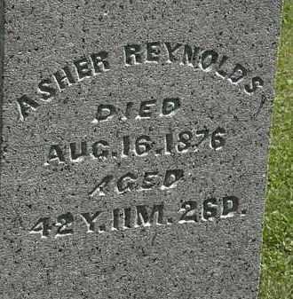 REYNOLDS, ASHER - Morrow County, Ohio | ASHER REYNOLDS - Ohio Gravestone Photos