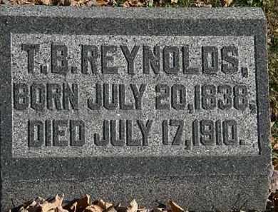 REYNOLDS, T.B. - Morrow County, Ohio   T.B. REYNOLDS - Ohio Gravestone Photos