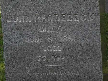 RHODEBECK, JOHN - Morrow County, Ohio   JOHN RHODEBECK - Ohio Gravestone Photos