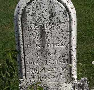 RICE, P.K. - Morrow County, Ohio | P.K. RICE - Ohio Gravestone Photos