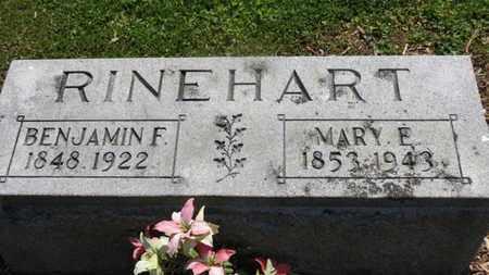RINEHART, MARY E. - Morrow County, Ohio | MARY E. RINEHART - Ohio Gravestone Photos