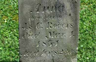 ROGERS, ANNA - Morrow County, Ohio | ANNA ROGERS - Ohio Gravestone Photos
