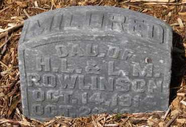 ROWLINSON, MILDRED - Morrow County, Ohio | MILDRED ROWLINSON - Ohio Gravestone Photos