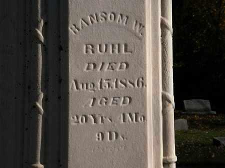 RUHL, RANSOM W. - Morrow County, Ohio   RANSOM W. RUHL - Ohio Gravestone Photos