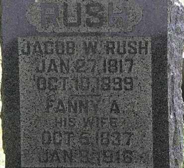 RUSH, FANNY A. - Morrow County, Ohio | FANNY A. RUSH - Ohio Gravestone Photos
