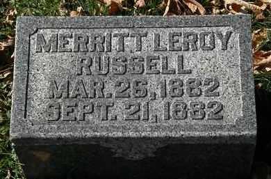 RUSSELL, MERRITT LEROY - Morrow County, Ohio   MERRITT LEROY RUSSELL - Ohio Gravestone Photos