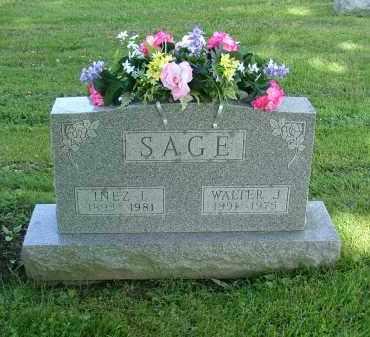 SAGE, INEZ L - Morrow County, Ohio | INEZ L SAGE - Ohio Gravestone Photos