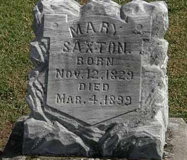 SAXTON, MARY - Morrow County, Ohio | MARY SAXTON - Ohio Gravestone Photos