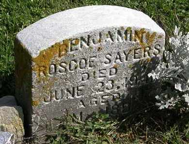 SAYERS, BENJAMIN ROSCOE - Morrow County, Ohio | BENJAMIN ROSCOE SAYERS - Ohio Gravestone Photos