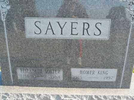 SAYERS, ELIZABETH SOLTER - Morrow County, Ohio | ELIZABETH SOLTER SAYERS - Ohio Gravestone Photos