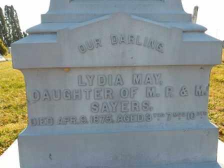 SAYERS, LYDIA MAY - Morrow County, Ohio | LYDIA MAY SAYERS - Ohio Gravestone Photos