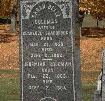 COLEMAN SCARBROUGH, SARAH BELLE - Morrow County, Ohio | SARAH BELLE COLEMAN SCARBROUGH - Ohio Gravestone Photos