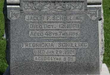 SCHILLING, JACOB F. - Morrow County, Ohio   JACOB F. SCHILLING - Ohio Gravestone Photos