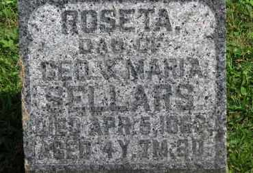 SELLARS, ROSETA - Morrow County, Ohio   ROSETA SELLARS - Ohio Gravestone Photos