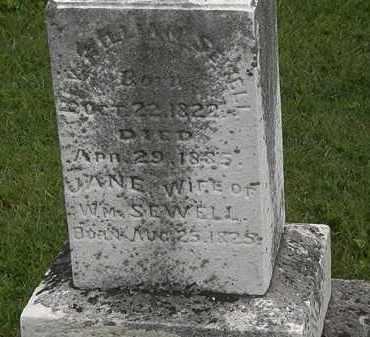 SEWELL, JANE - Morrow County, Ohio   JANE SEWELL - Ohio Gravestone Photos