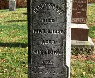 SHADE, HENRY - Morrow County, Ohio | HENRY SHADE - Ohio Gravestone Photos