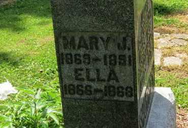 SHARROCK, ELLA - Morrow County, Ohio | ELLA SHARROCK - Ohio Gravestone Photos
