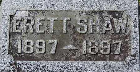 SHAW, ERETT - Morrow County, Ohio | ERETT SHAW - Ohio Gravestone Photos