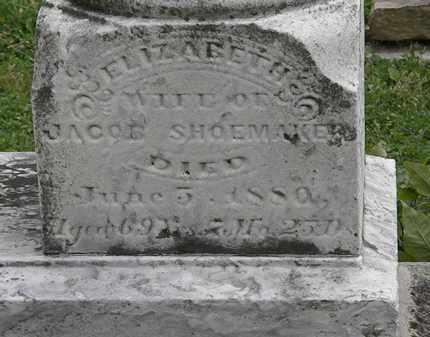 SHOEMAKER, ELIZABETH - Morrow County, Ohio   ELIZABETH SHOEMAKER - Ohio Gravestone Photos